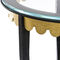 Traditional side table / glass / wrought iron / leather JOSEPHINE Mobilier De Style