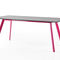contemporary dining table / painted metal / concrete / rectangular
