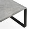 contemporary dining table / steel / concrete / rectangular