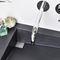 wall-mounted washbasin / rectangular / concrete / contemporary