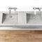 double washbasin / wall-mounted / rectangular / concrete