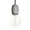 pendant lamp / contemporary / stainless steel / concrete