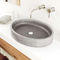 countertop washbasin / oval / concrete / contemporary