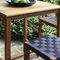 contemporary high bar table / wooden / square / outdoor