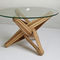 Original design coffee table / bamboo / tempered glass / round LOCK   by J.P.Meulendijks JAN  PAUL