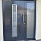 entry door / swing / stainless steel / security