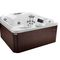 above-ground hot tub / square / 6-person / indoor