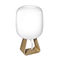 table lamp / contemporary / blown glass / oak