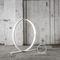 floor-standing lamp / original design / aluminum / acrylic