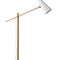 floor-standing lamp / contemporary / painted aluminum / wooden