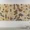 interior acoustic panel / wood wool / decorative / commercial