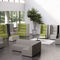contemporary sofa / for reception areas / fabric / synthetic leather