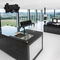 contemporary kitchen / wooden / marble / natural stone