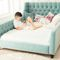 single bed / traditional / upholstered / with headboard