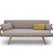 sofa bed / contemporary / fabric / wooden