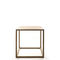 contemporary table / wooden / square / handmade