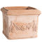 clay planter / terracotta / rectangular / square