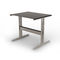 contemporary side table / steel / leather / rectangular