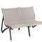 garden bench / contemporary / aluminum / Textilene®