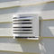 stainless steel ventilation grill / rectangular / for air supply and exhaust / for kitchens