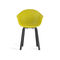 contemporary chair / with armrests / wooden / metal
