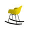 contemporary chair / upholstered / with armrests / rocker