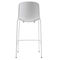 contemporary bar chair / with footrest / metal / polypropylene