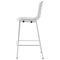 contemporary bar chair / with footrest / stackable / metal