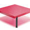 New Baroque design side table / lacquered MDF / lacquered steel / square