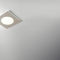 recessed downlight / LED / square / painted metal