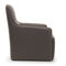 contemporary armchair / fabric / gray / yellow