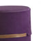 contemporary pouf / fabric / synthetic leather / contract