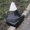 security bollard / steel / cast iron