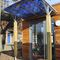 entrance canopy / for commercial buildings / wooden / commercial