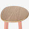 contemporary bar stool / powder-coated steel / molded plywood / for hotels