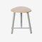 chrome steel task stool
