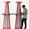 modern high bar table / powder-coated steel / zinc / HPL