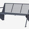 public bench / contemporary / powder-coated steel / with backrest