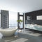 Hot water towel radiator / steel / contemporary / vertical SNAKE ONE by F.Lucarelli & B. Rapisarda SCIROCCO H