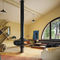 Gas fireplace / contemporary / open hearth / central MAGMAFOCUS Focus