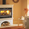 wood heating stove / traditional / earthenware / with oven