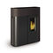 pellet heating stove / contemporary / steel