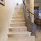 Quarter-turn staircase / stone steps / steel frame / with risers AUBEROCHE ET ACIER OCCITANIE PIERRES