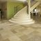 Quarter-turn staircase / stone steps / metal frame / with risers MASSIF OCCITANIE PIERRES