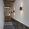 contemporary wall light / outdoor / metal / LED