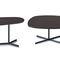 contemporary coffee table / metal / oak / walnut