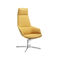 Contemporary armchair / leather / aluminum / swivel ASTON Arper