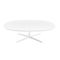 contemporary coffee table / MDF / aluminum / round