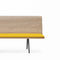 Contemporary bench / wooden / steel / aluminum ZINTA  Arper