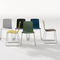 contemporary chair / with armrests / tablet / stackable